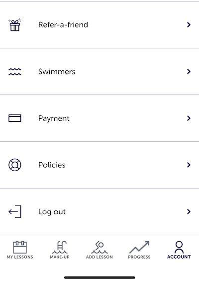 Mobile-App-Account-Screen
