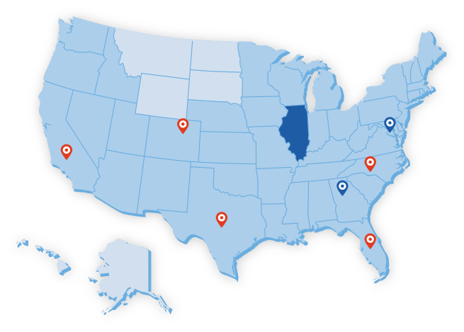 Big Blue Swim School Territory Map