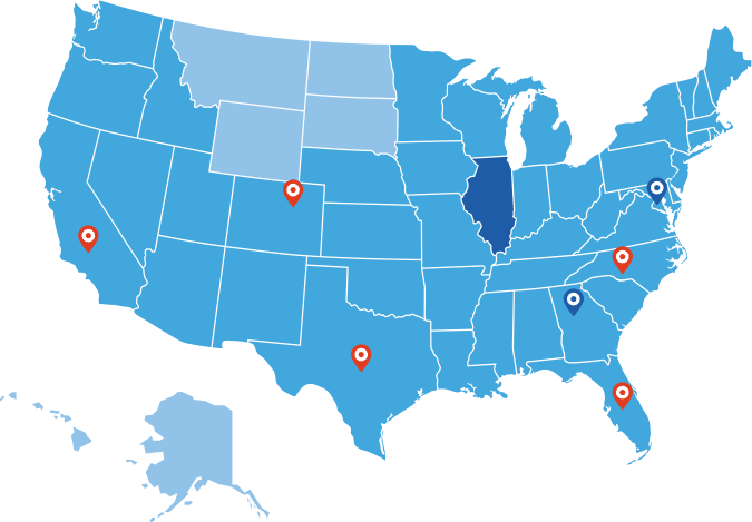 Big Blue Swim School Available Markets Map