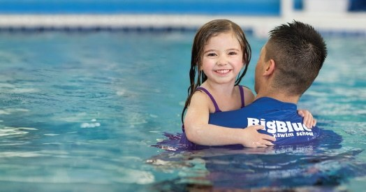 Happy Kid at Big Blue Swim School