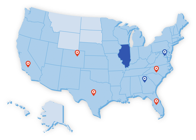 Big Blue Swim School Territory Map